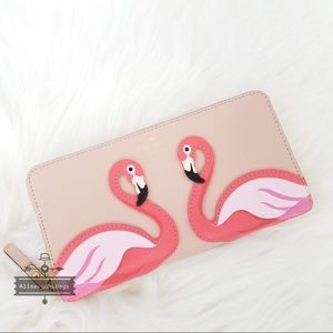 🔽 Kate spade flamingo Lacey multi the pool wallet